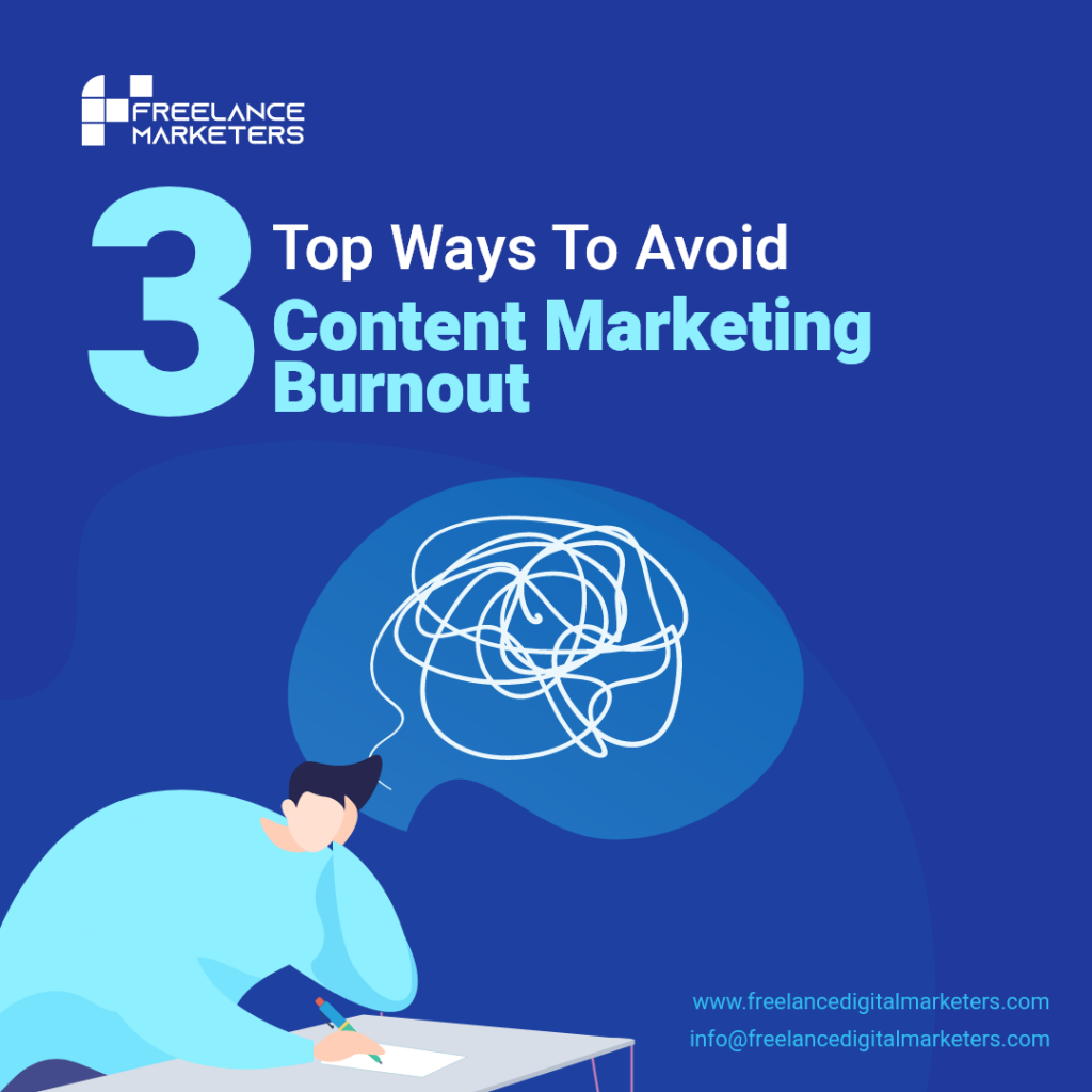 Avoid Content Marketing Burnout - Freelance Digital Marketers
